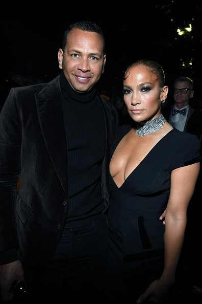 Alex Rodriguez and Jennifer Lopez at Milk Studios on February 07, 2020 in Hollywood, California.   Photo: Getty Images