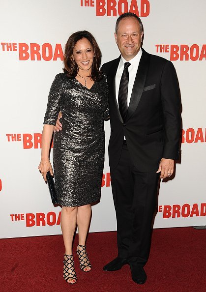 Kamala Harris and Douglas Emhoff attend the Broad Museum black tie inaugural dinner at The Broad on September 17, 2015 | Photo: Getty Images