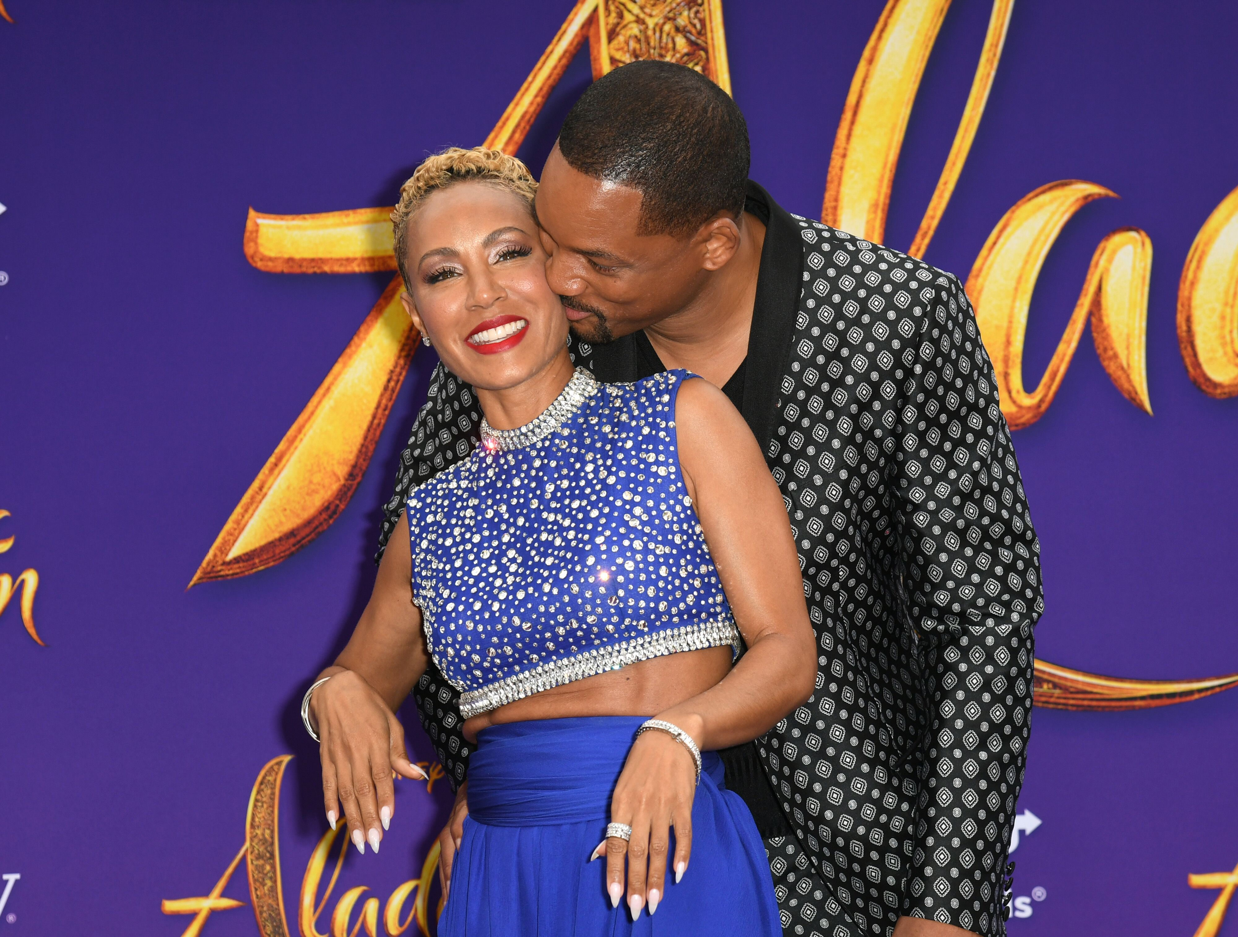 "Will Smith and Jada Pinkett-Smith at the ""Aladdin"" Premiere 