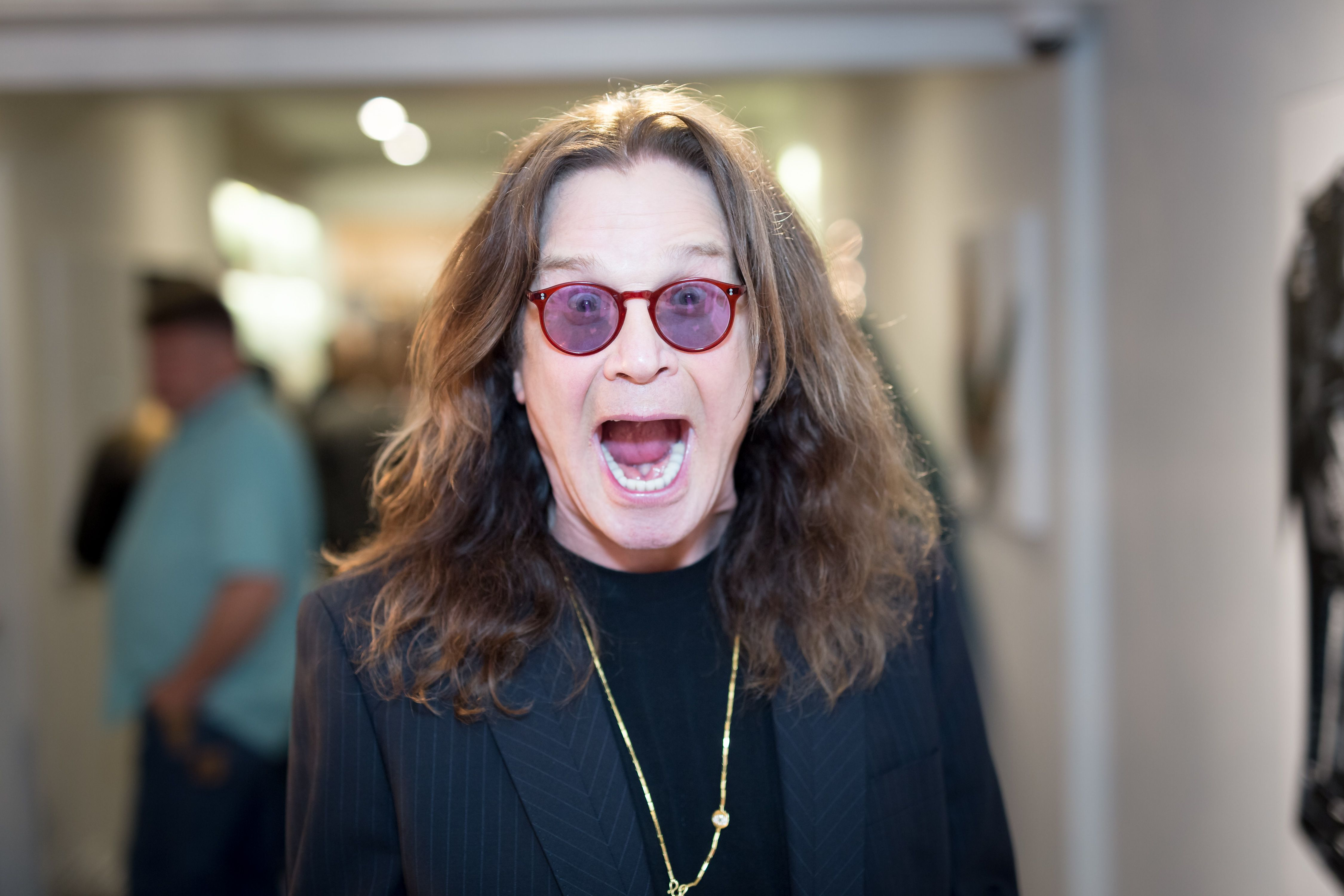 Ozzy Osbourne at the Billy Morrison - Aude Somnia Solo Exhibition at Elisabeth Weinstock on September 28, 2017   Photo: Getty Images
