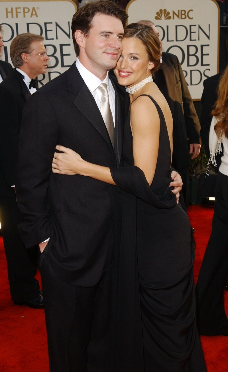 Scott Foley and Jennifer Garner on January 19, 2003 in Beverly Hills, California   Photo: Getty Images