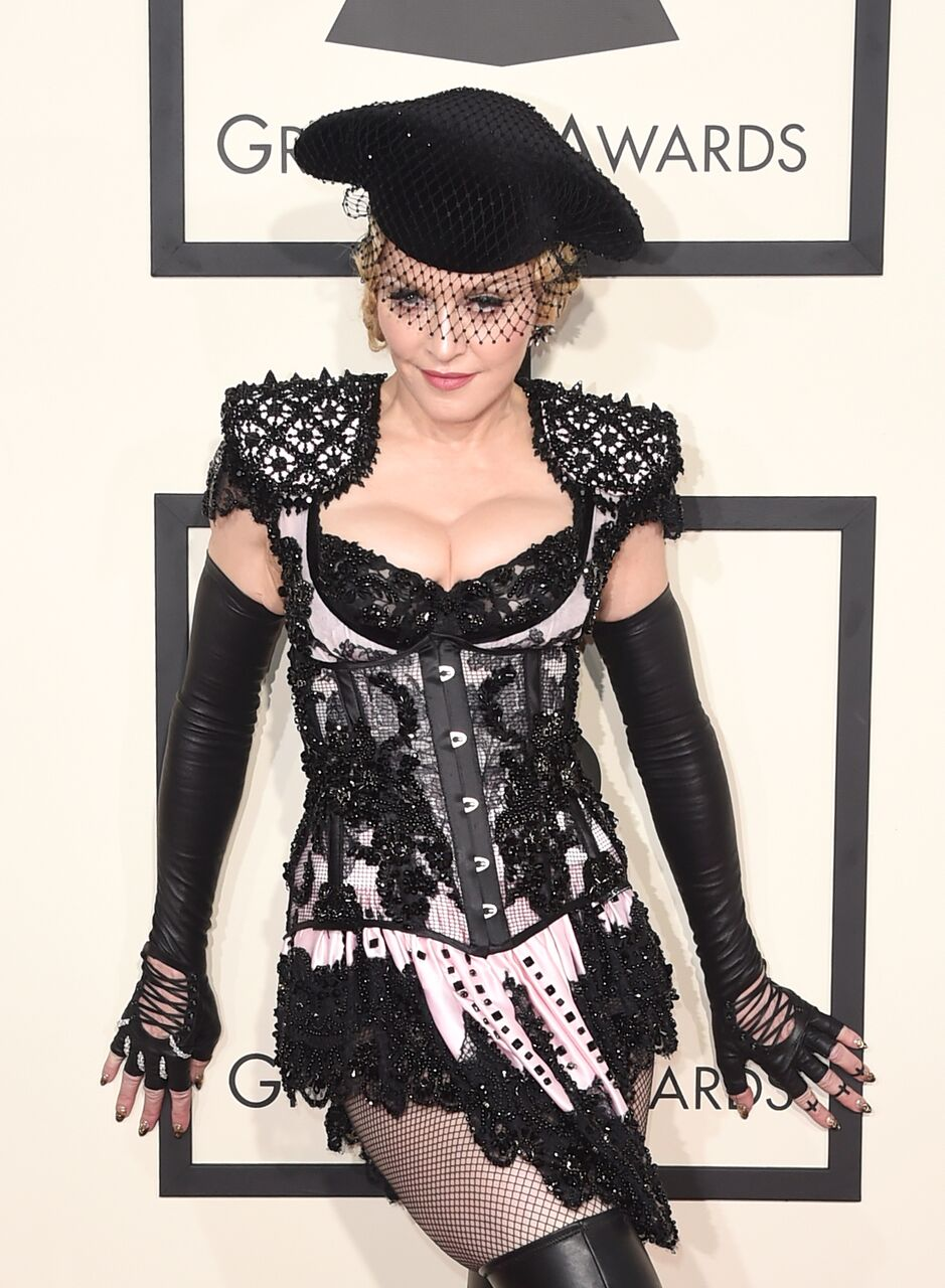 Madonna attends The 57th Annual GRAMMY Awards at the STAPLES Center. | Source: Getty Images