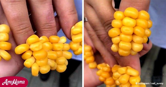 New nail 'corn' trend looks tasty