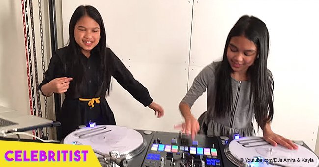 Twin girls flaunt their incredible DJ skills, remixing Notorious B.I.G.s music in viral video