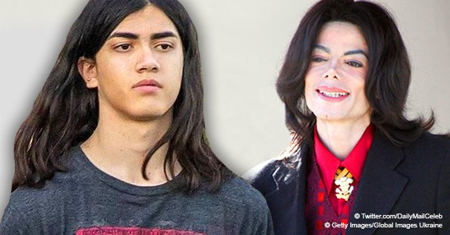 Michael Jackson youngest son Blanket looks all grown up during rare public outing