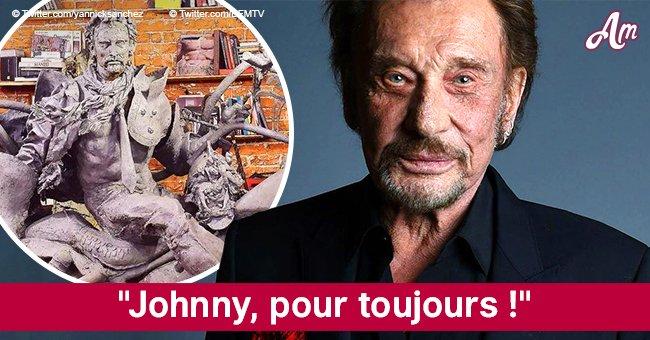 Une statue gigantesque de Johnny Hallyday sera placée à Paris (Photo)