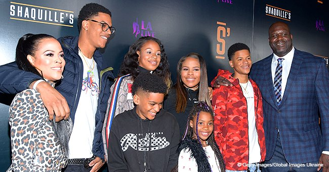 Shaquille O'Neal Poses with Ex-Wife Shaunie & Their Kids, Celebrating His New Restaurant in Pic