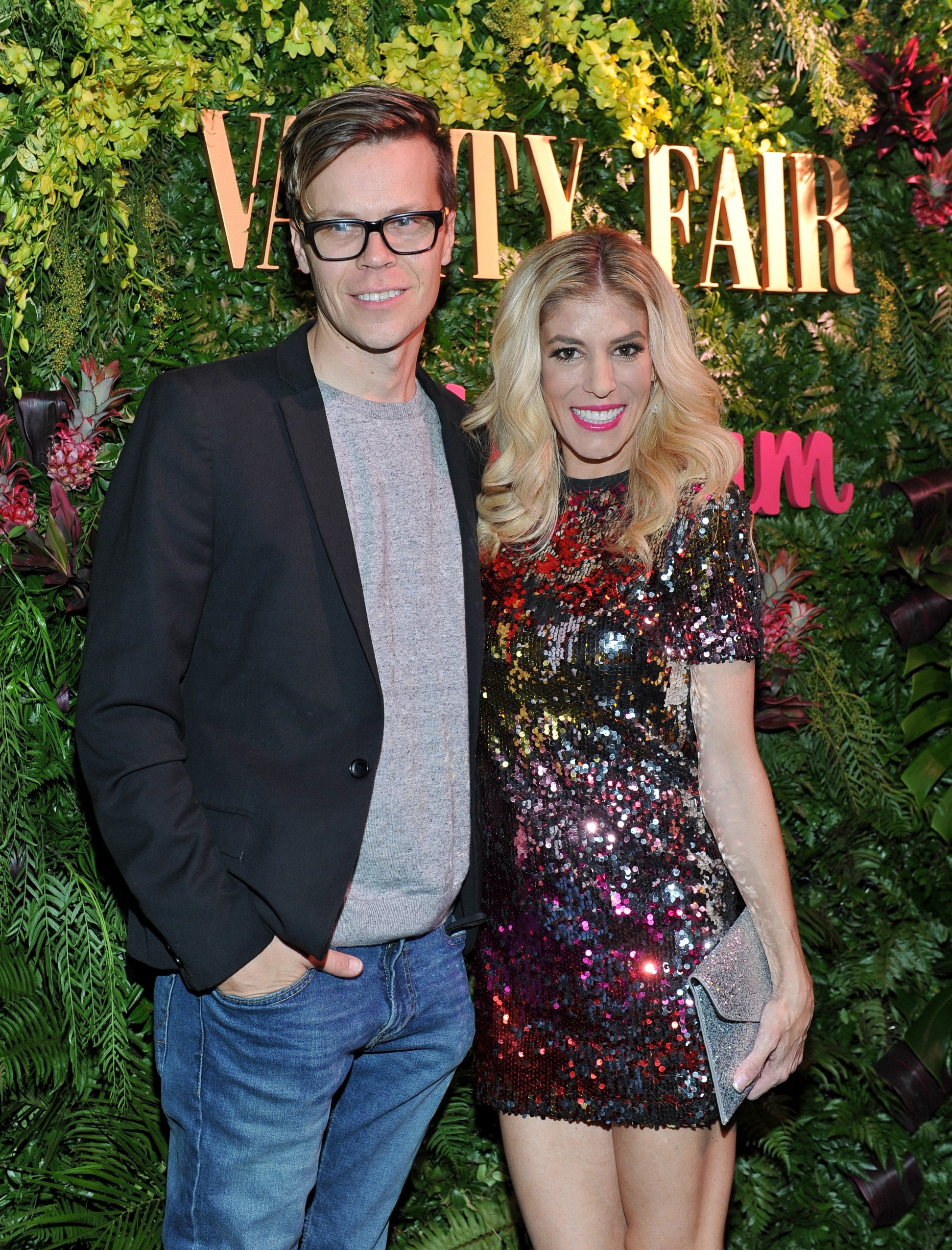 Rebecca Zamolo with husband Matt Slays at Vanity Fair x Instagram at Mel's Diner during Golden Globes Weekend in West Hollywood, California   Photo: Donato Sardella/Getty Images for Vanity Fair/Instagram