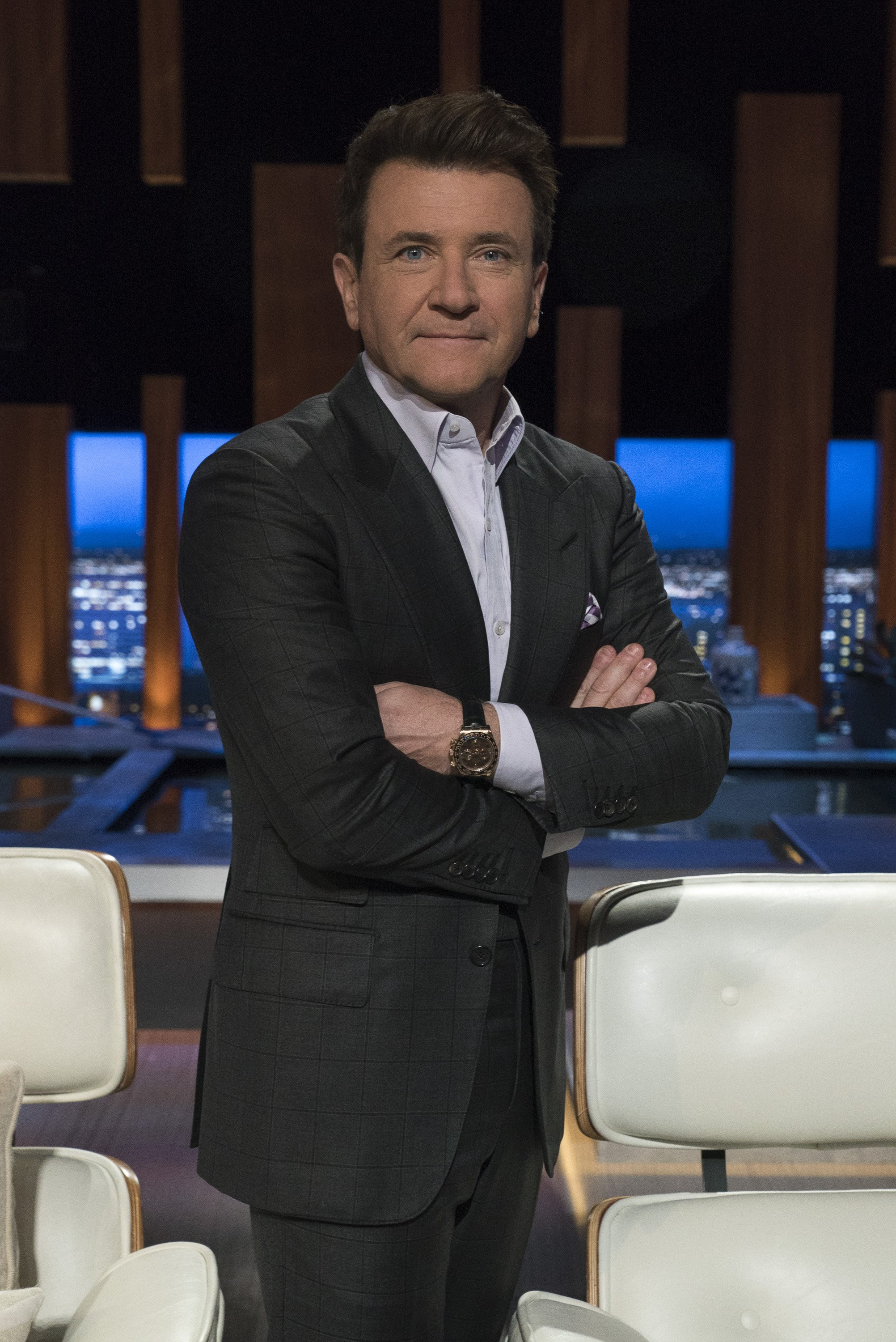 """Robert Herjavec pictured on set on """"Shark Tank,"""" 2019.   Photo: Getty Images"""
