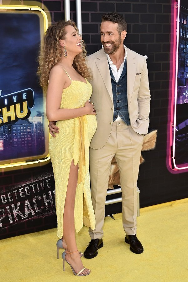 "Blake Lively and Ryan Reynolds at the premiere of ""Pokemon Detective Pikachu"" on May 2, 2019 in New York City 