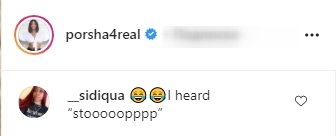 A fan's comment on Porsha's video of her daughter, Pilar. | Photo: Instagram/Porsha4real
