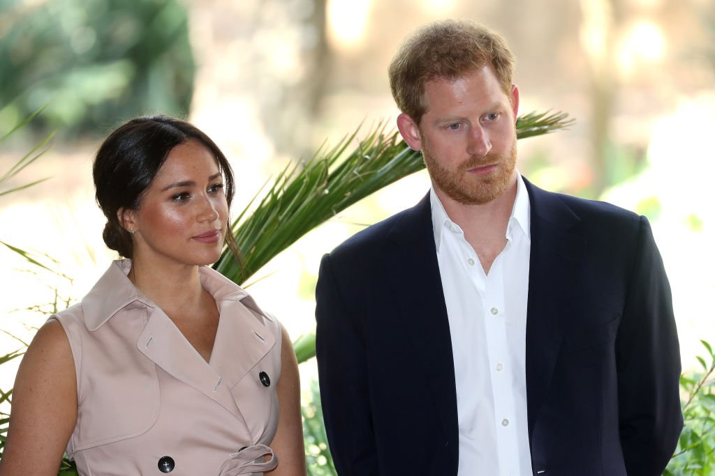Prince Harry and Meghan attend a Creative Industries and Business Reception on October 02, 2019, in Johannesburg, South Africa. | Source: Getty Images.