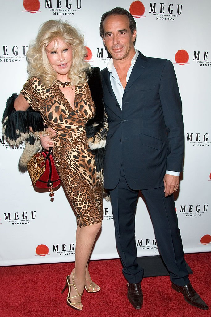 Jocelyn Wildenstein and Lloyd Klein during Grand Opening of Megu Midtown at Trump World Towers at Trump World Towers in New York, NY, United States. | Source: Getty Images