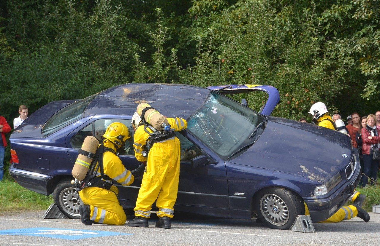Une intervention des secours lors d'un accident.   Photo : Pixabay