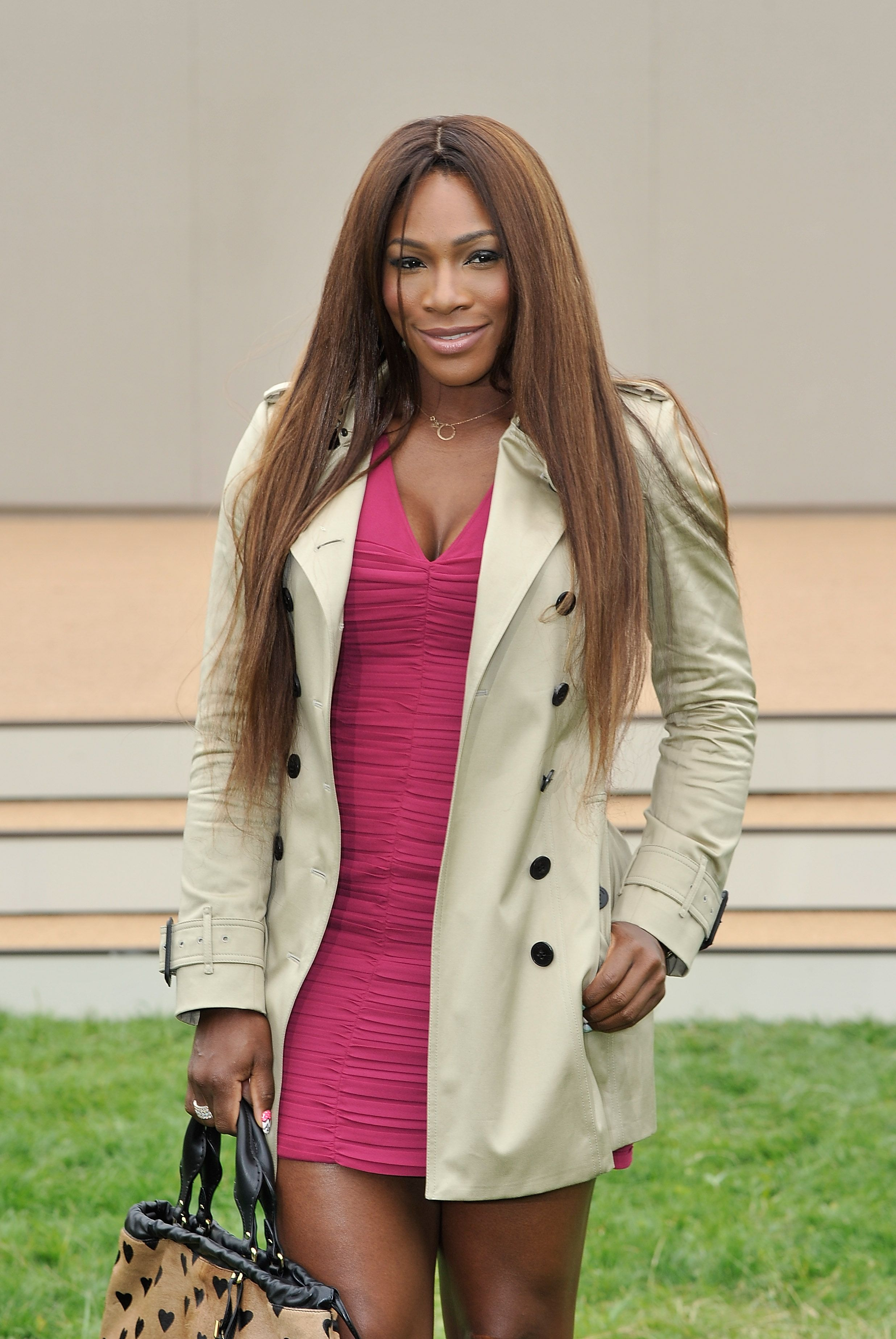 Serena Williams at the Burberry Menswear Spring/Summer 2014 at Kensington Gardens on June 18, 2013 in London, England.   Source: Getty Images
