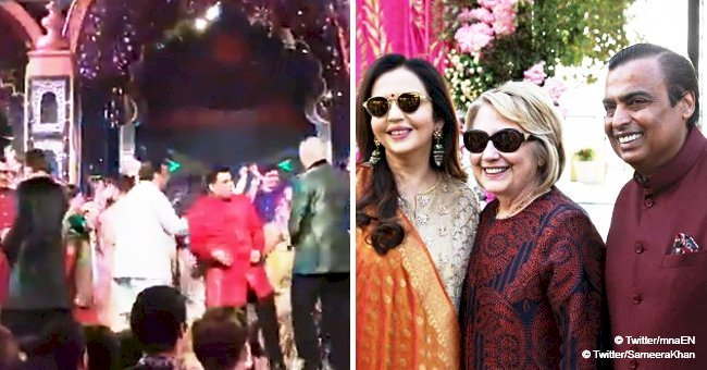 Hillary Clinton and John Kerry filmed dancing to Bollywood hits at lavish wedding in India