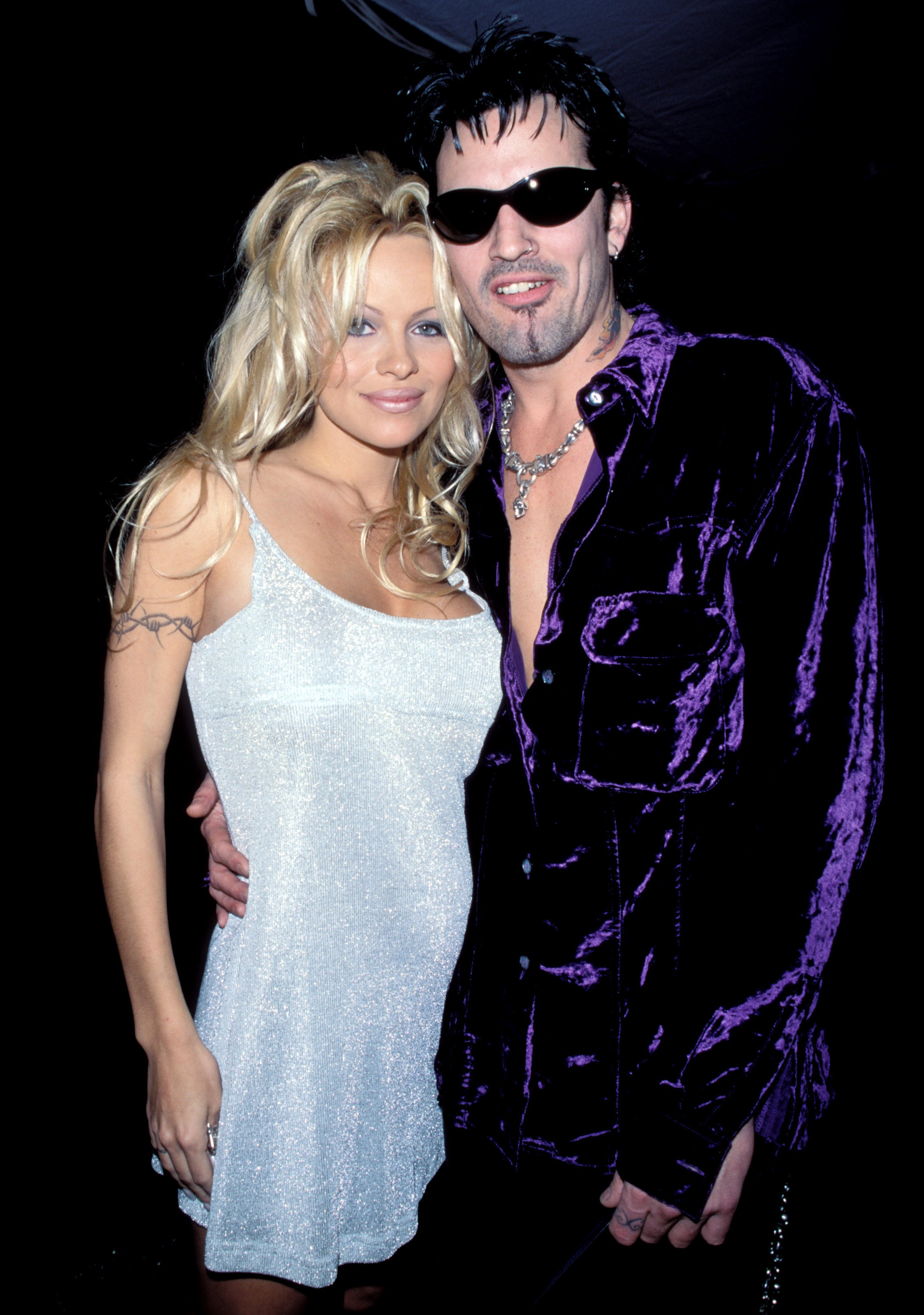 Pamela Anderson and Tommy Lee at the American Music Awards, 1996 | Photo by Kevin Mazur/WireImage/GettyImages