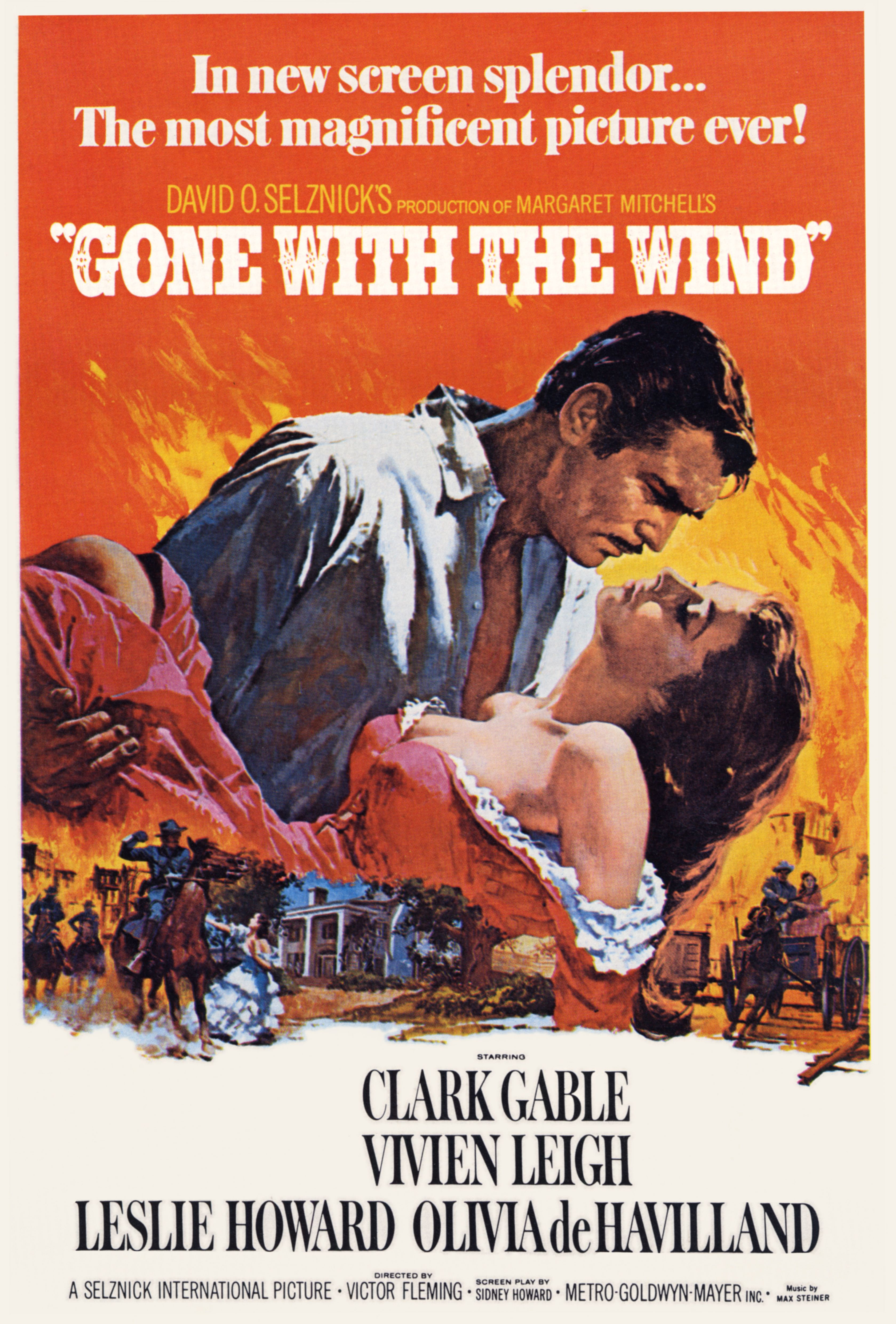 """Movie poster for """"Gone WIth the WInd"""" 