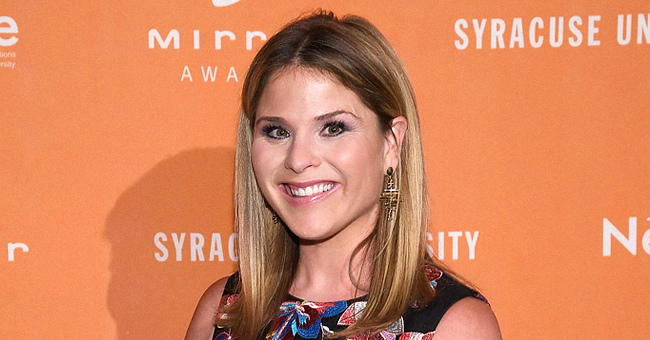 Jenna Bush-Hager Poses Alongside Husband Henry in a Pink Off-Shoulder Mini Dress
