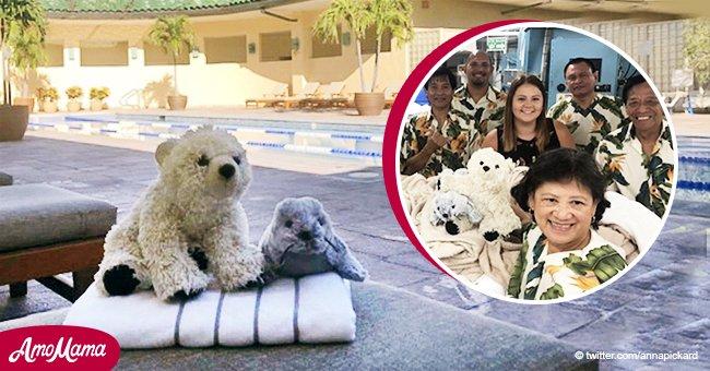 Ein Junge vergaß seinen Teddybären in einem Hotel und bekam anschließend ungewöhnliche Fotos von ihm