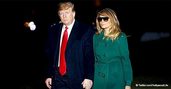 Melania Trump trolled for wearing sunglasses at night while holding hands with Donald Trump in D.C