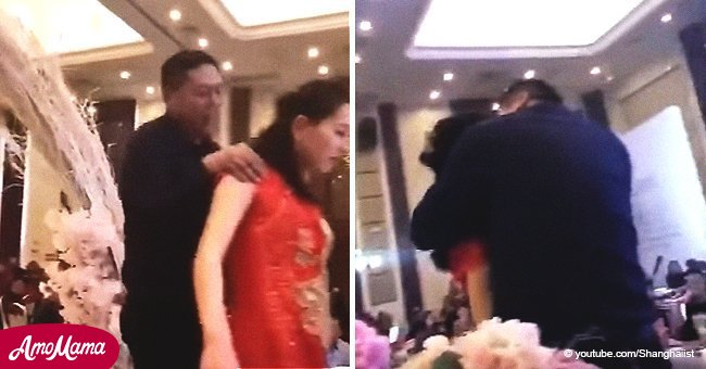 Viral video of father-in-law who grabbed bride near the altar and ruined her wedding