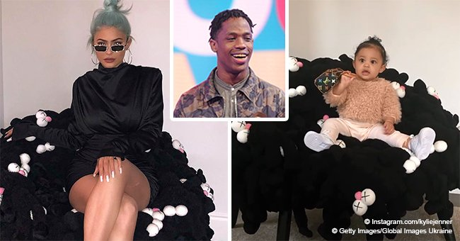 Kylie Jenner & baby Stormi show off new $100K+ KAWS chair gifted by Travis Scott in recent photos