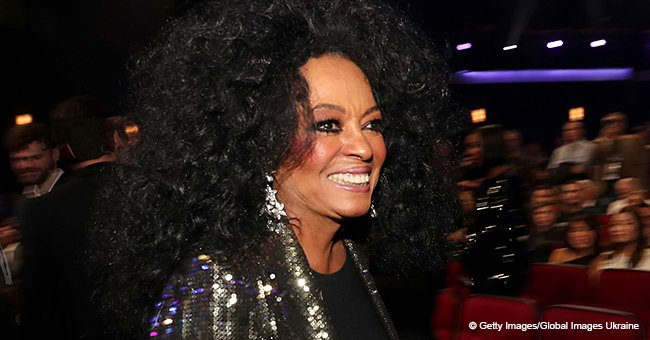 Diana Ross' Granddaughter Flashes Adorable Smile, Wearing Black and White Outfit in Photo with Dad