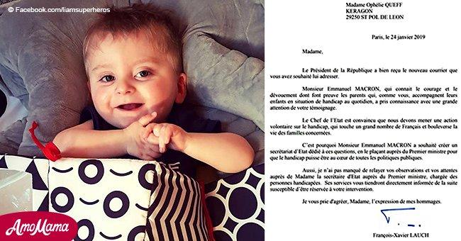 La mère qui a écrit une lettre à Macron au sujet de son fils handicapé obtient soudainement une réponse de l'Élysée