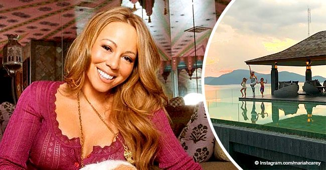 Mariah Carey captures sweet moment from 'mini vacation' with her twins in sunset photo