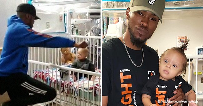 Dad who went viral for dancing for his baby in hospital announces toddler is cancer-free