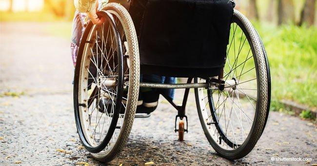 Discapacitado en silla de ruedas. Fuente: Shutterstock