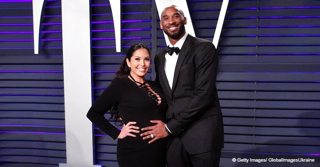Kobe Bryant Melts Hearts Cradling Wife's Baby Bump as They Rock Matching Black Looks at Oscars Bash