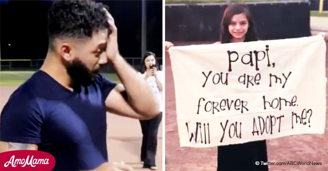 Man Can't Hold Back Tears as 8-Year-Old Stepdaughter Surprises Him with Adoption Proposal