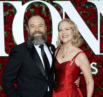 Danny Burstein and Rebecca Luker attend the 2016 Tony Awards - Red Carpet at The Beacon Theatre on June 12, 2016 in New York City.   Source: Getty Images
