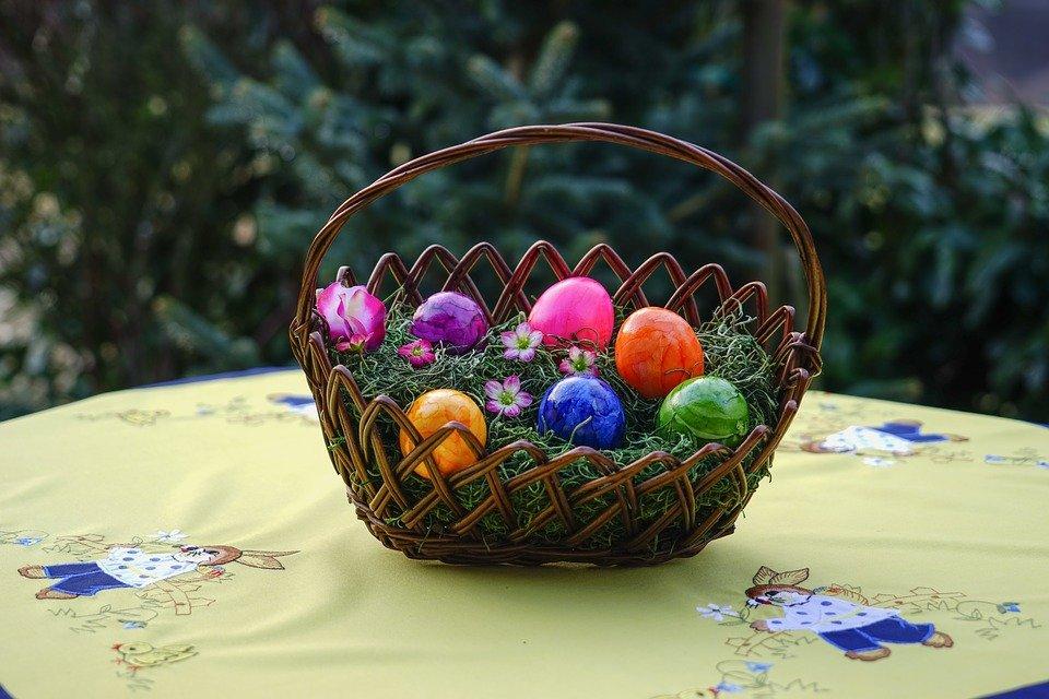Canasta de huevos de Pascua. | Imagen: Pixabay