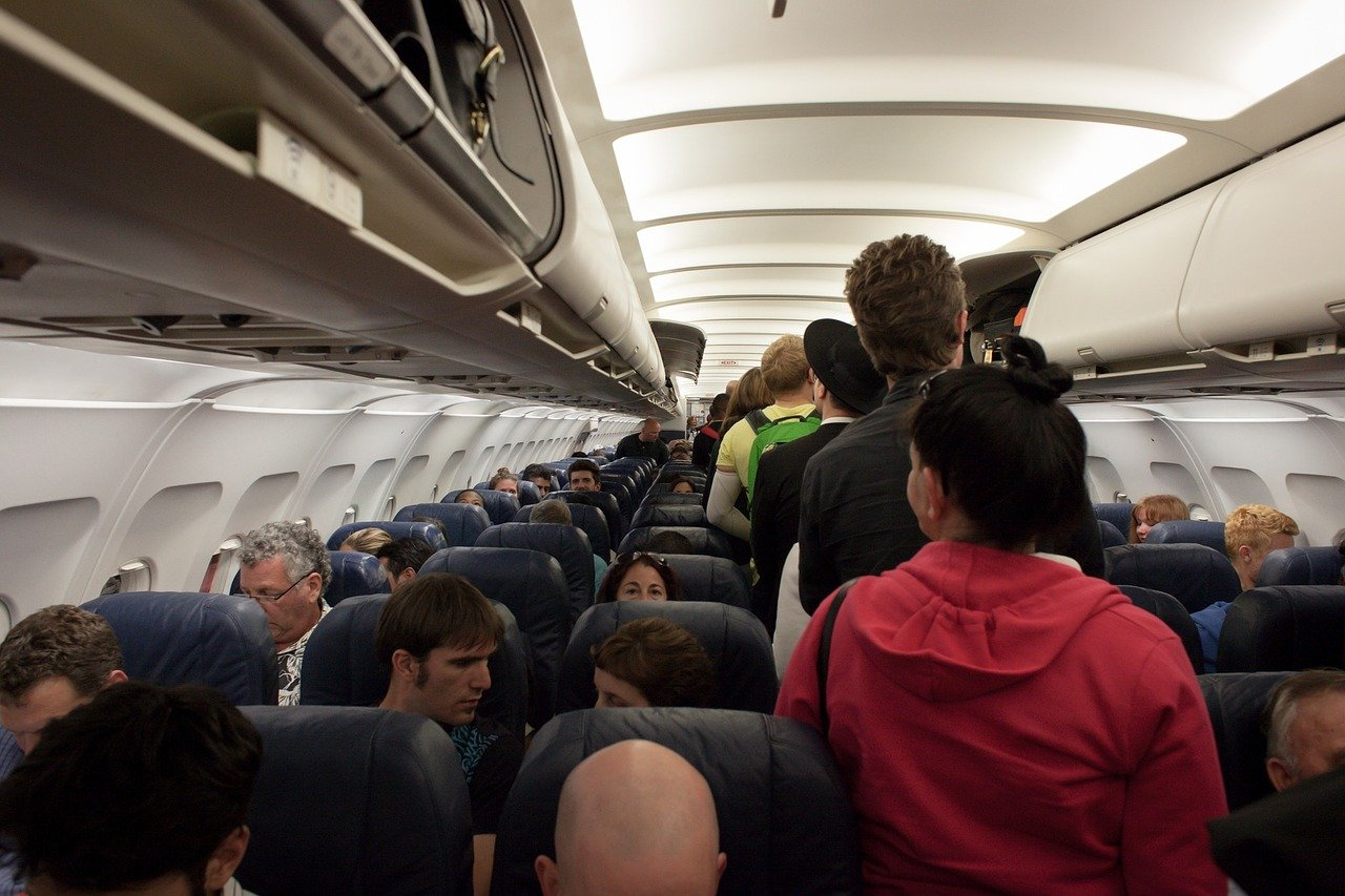 La photo des passagers en panique à bord d'un avion |Source: Pixabay