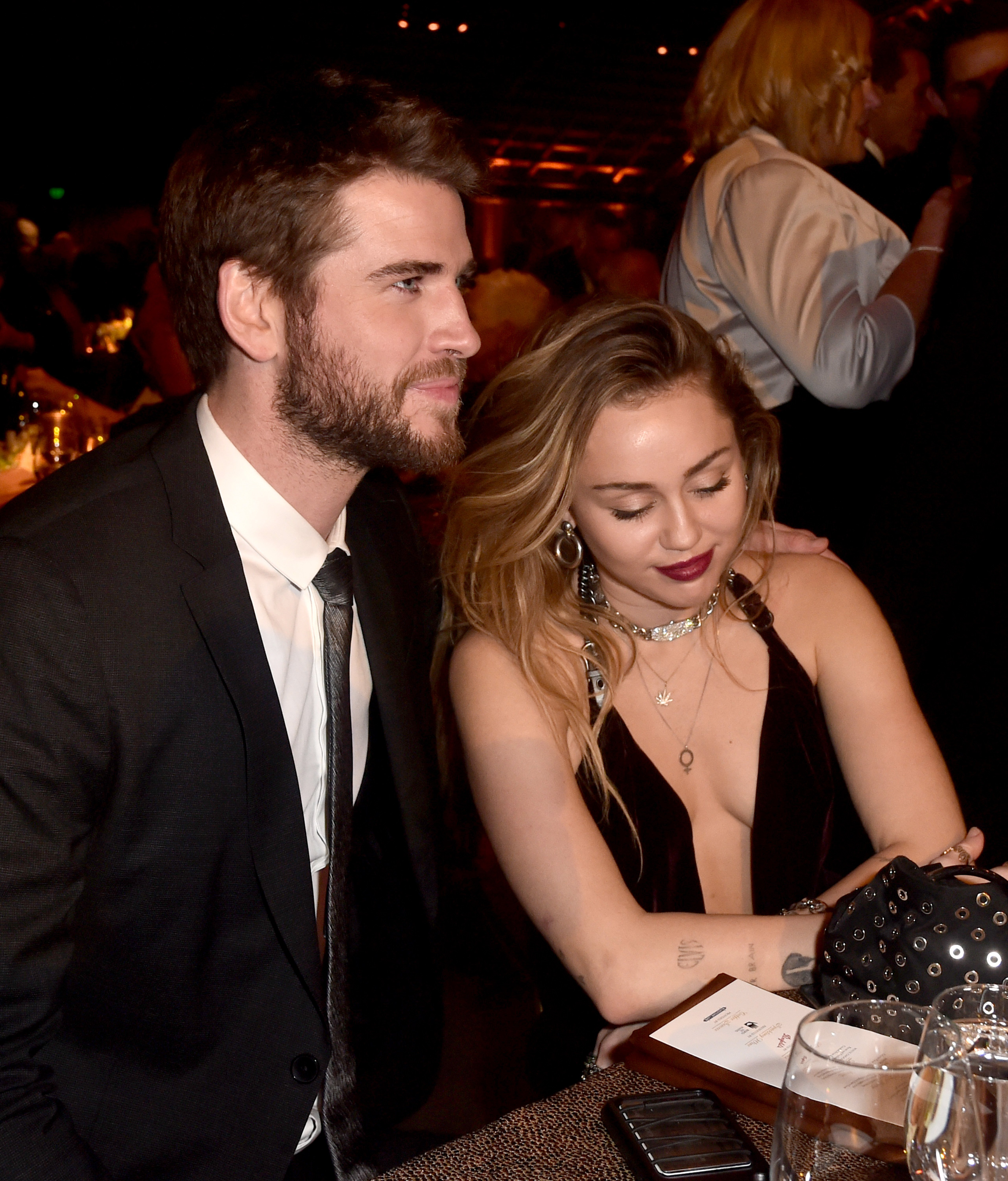 Liam Hemsworth and Miley Cyrus attend the 16th annual G'Day USA Los Angeles Gala at 3LABS on January 26, 2019 in Culver City, California. | Photo: Getty Images