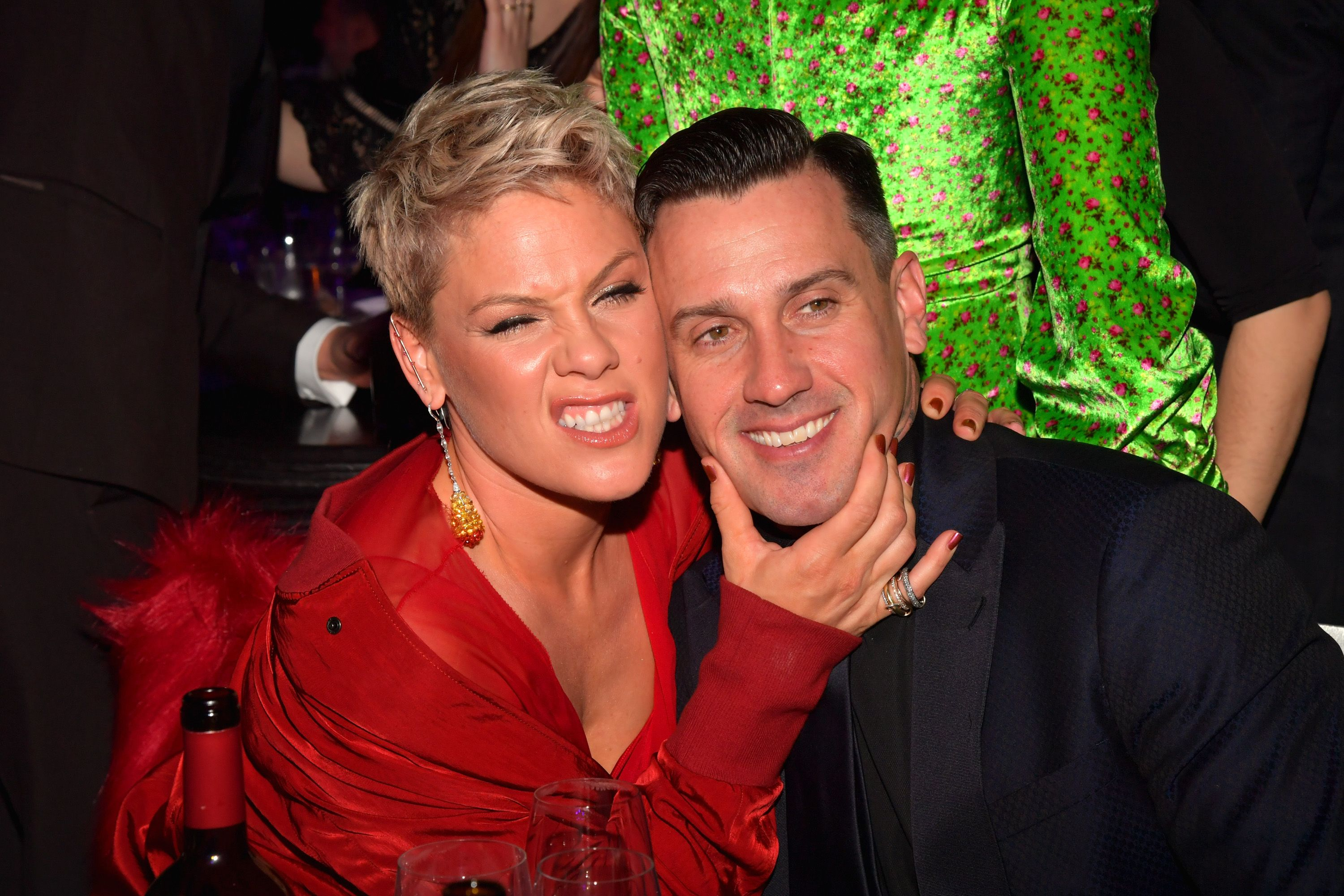 Pink and Carey Hart at the Clive Davis and Recording Academy Pre-GRAMMY Gala and GRAMMY Salute to Industry Icons Honoring Jay-Z on January 27, 2018 | Photo: Getty Images