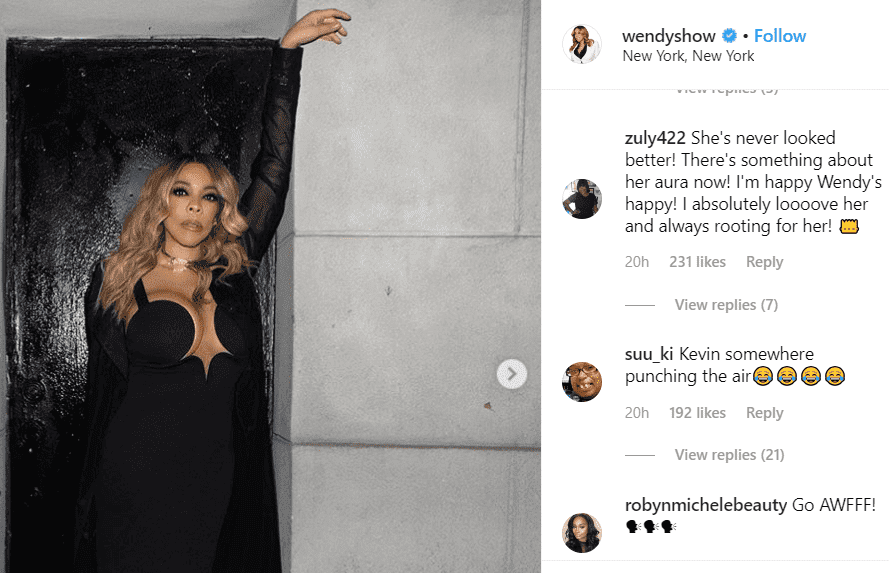 Screenshot of comments on Wendy Williams' post. | Photo: Instagram/wendyshow