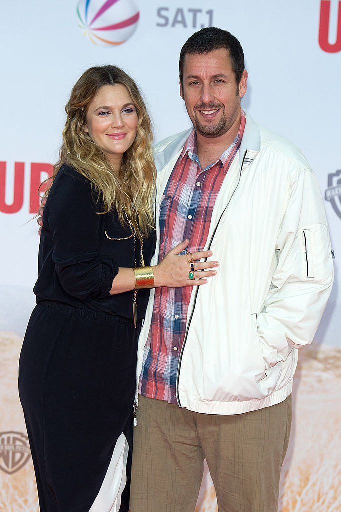 """Drew Barrymore and Adam Sandler attend the premiere of """"Blended"""" at CineStar on May 19, 2014 in Berlin, Germany. 