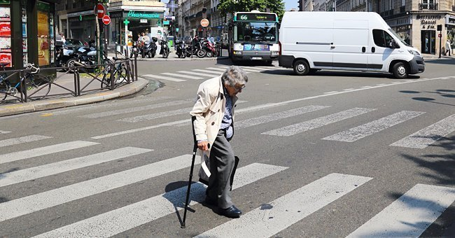 Photo of a senior woman crossing the road | Source: Shutterstock.com