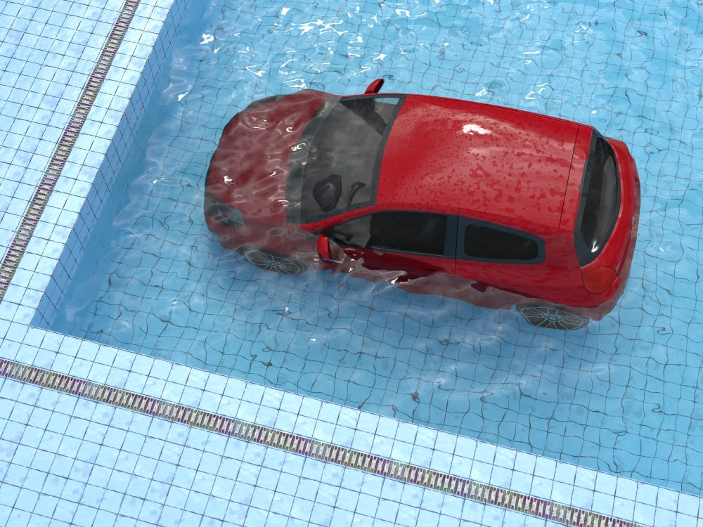 A photo of a car inside a swimming pool | Photo: Shutterstock