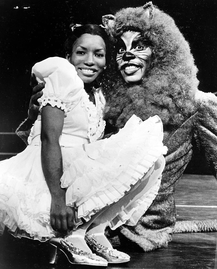 Stephanie Mills as Dorothy and Gregg Baker as the Lion in The Wiz, 1984. | Getty Images