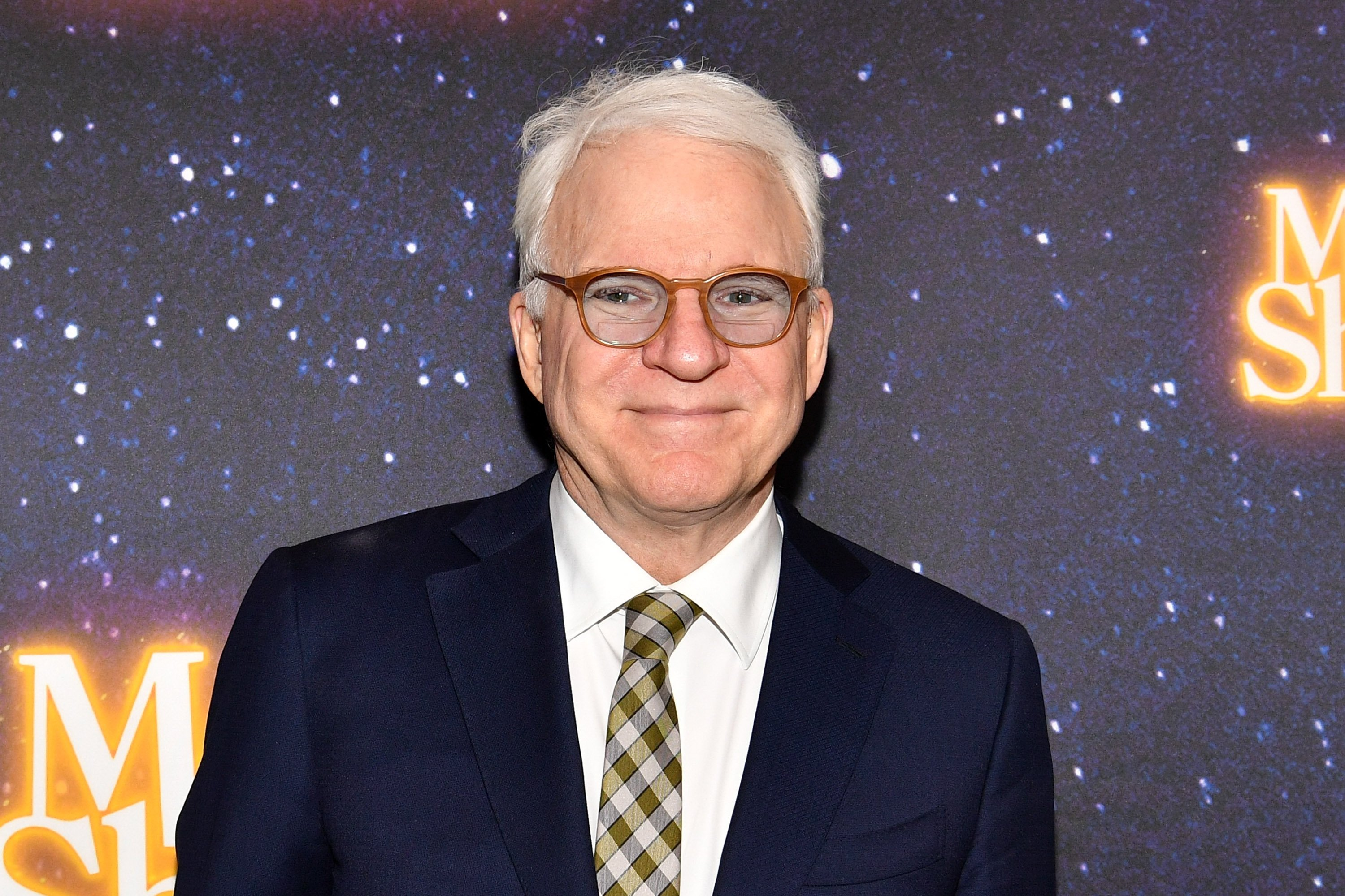"""Steve martin pictured at the """"Meteor Shower"""" Broadway Opening Night at the Booth Theatre, November 2017 in New York City. 