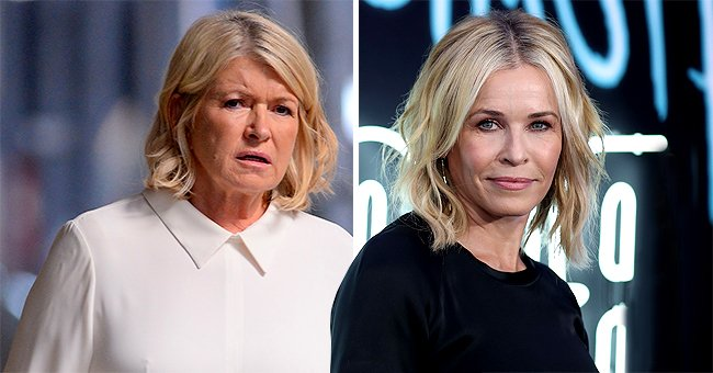 Martha Stewart Reacts after Comedian Chelsea Handler Recreates Her Viral Sultry Pool Photo