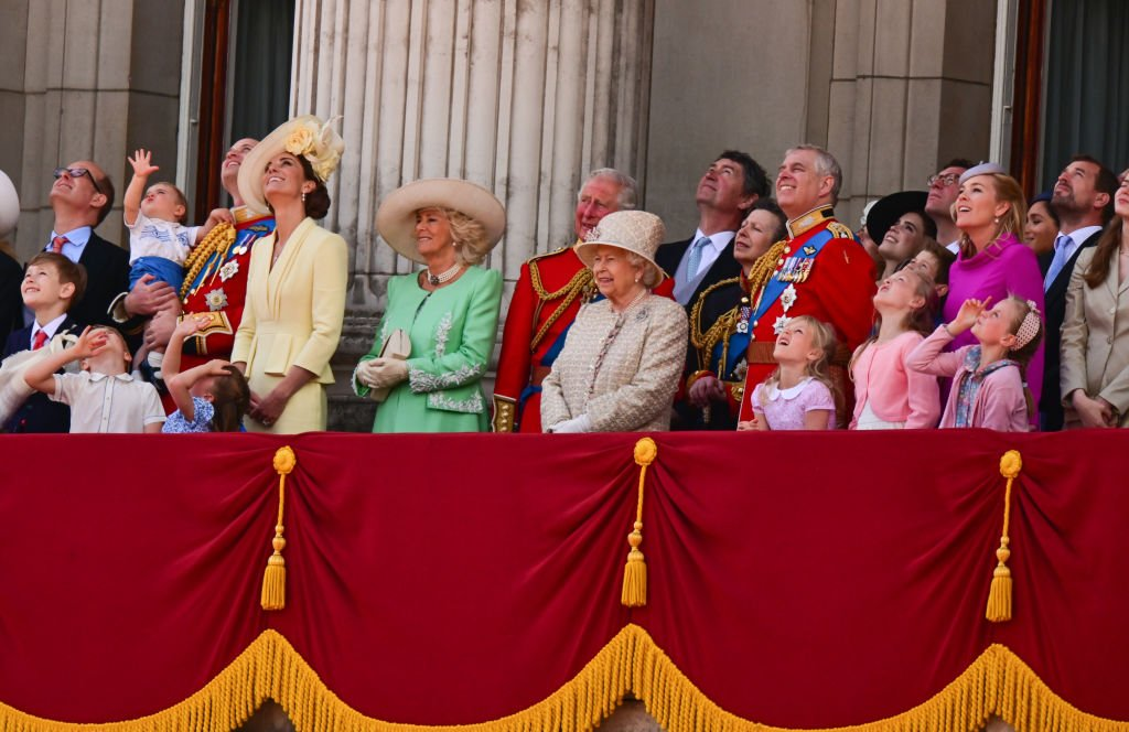 The British Royal Family seen on the balcony of Buckingham Palace during Trooping The Colour, the Queen's annual birthday parade, on June 8, 2019 in London, England | Photo: Getty Images