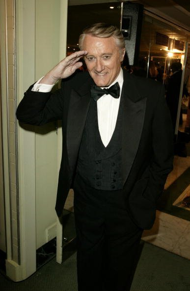 "Actor Robert Vaughn arrives at the ""TV Quick Awards 2004 "" at The Dorchester on September 6, 2004, in London. 