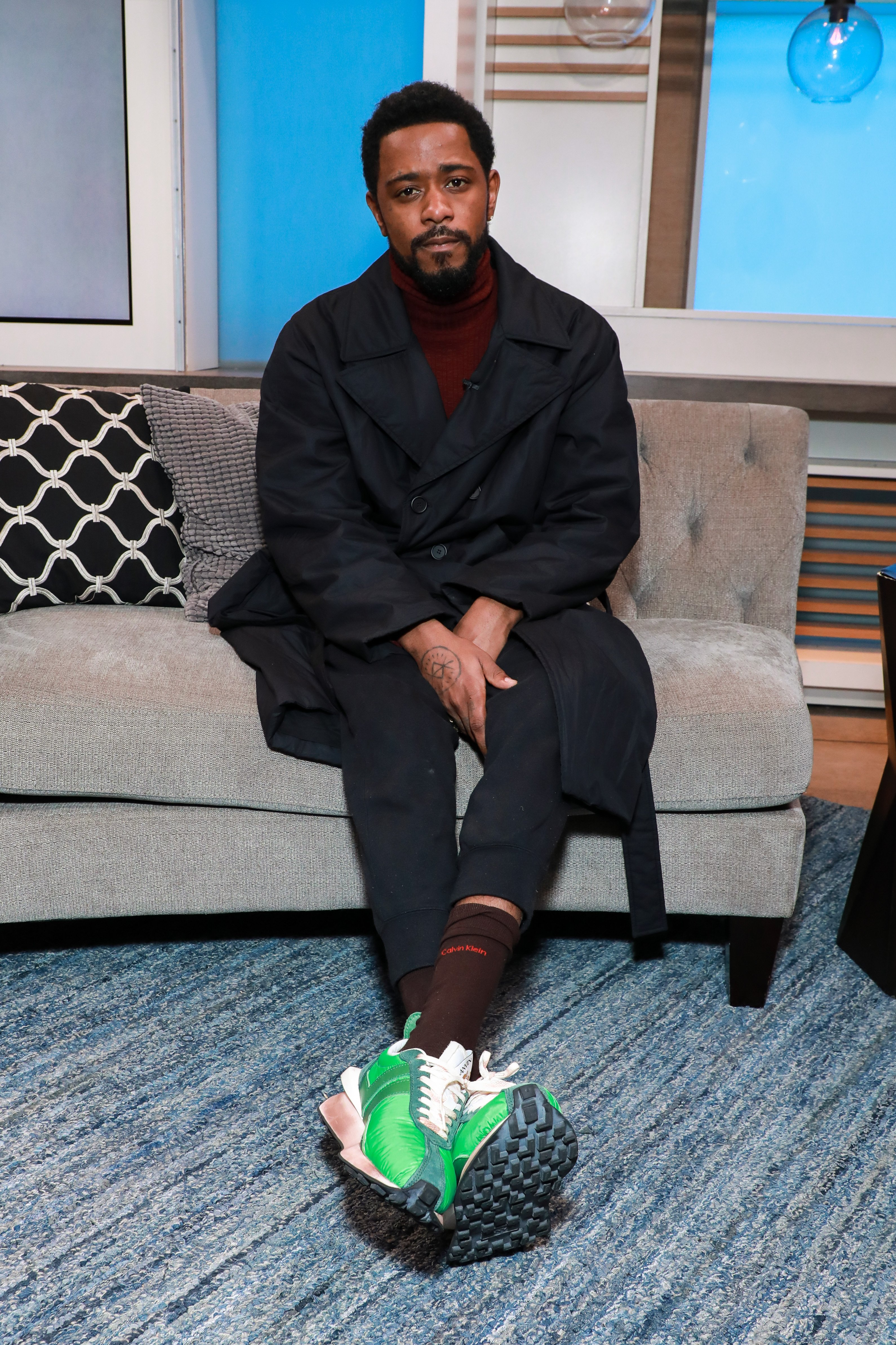 Lakeith Stanfield visiting People Now on February 12, 2020 in New York | Source: Getty Images
