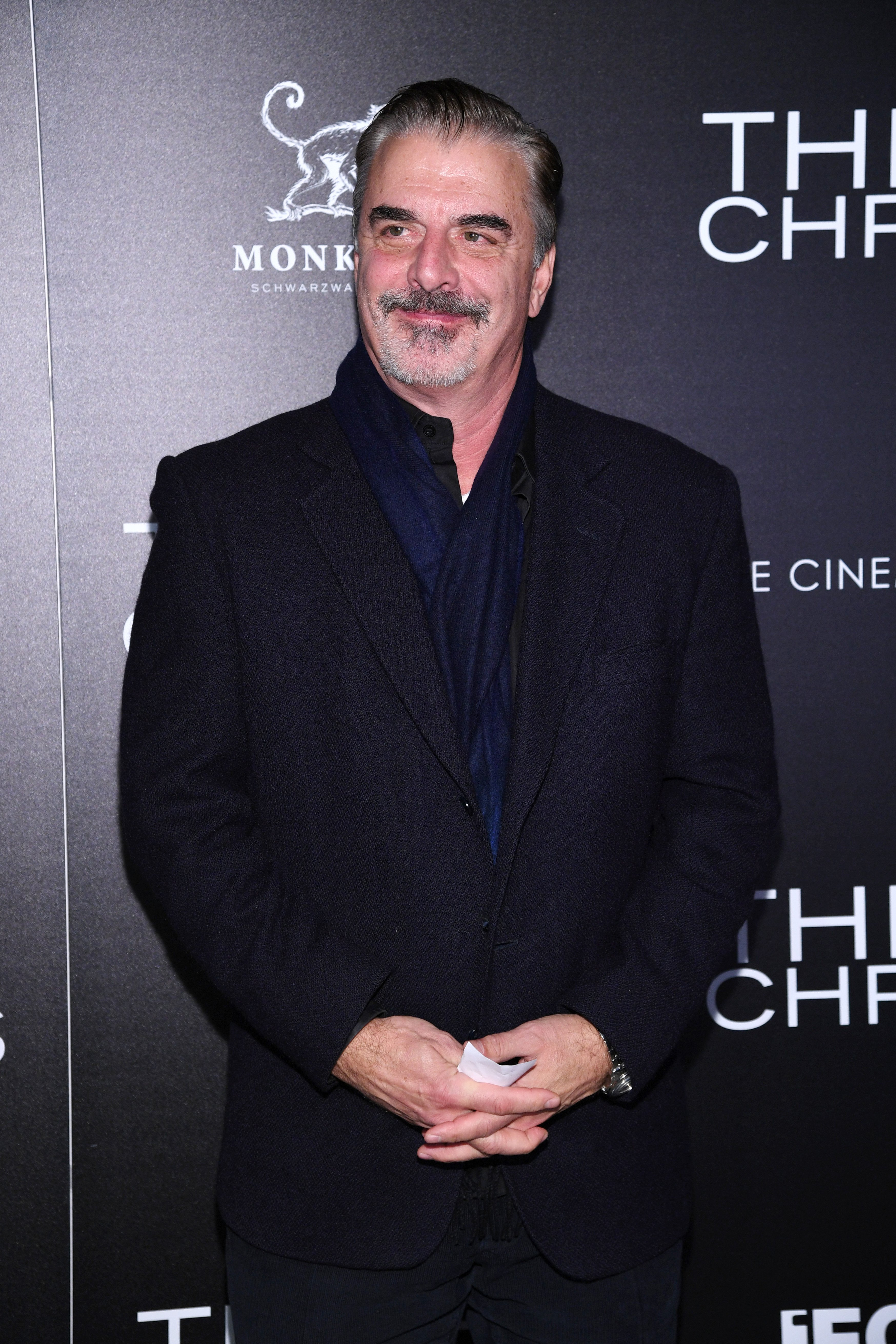 """Chris Noth spotted at the screening of """"Three Christs"""" in New York in January, 2020. 